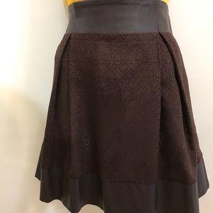 Mystree pleated A line skirt